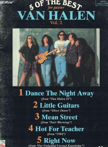 VAN HALEN - 5 OF THE BEST VOL 2 for guitar