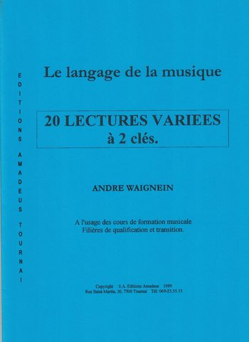 WAIGNEIN - 20 LECTURES VARIEES A 2 CLES