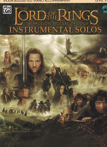 THE LORD OF THE RINGS FOR VIOLIN WITH PIANO ACCOMPANIMENT
