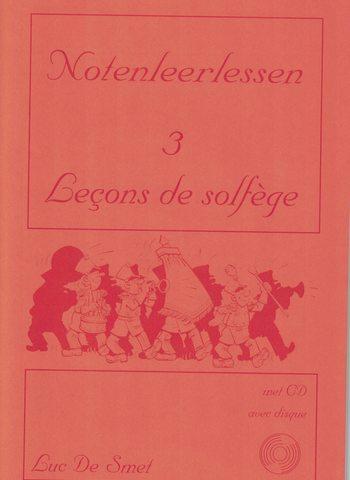 LUC DE SMET - LECONS DE SOLFEGE 3