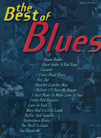 THE BEST OF THE BLUES- guitar with tablature
