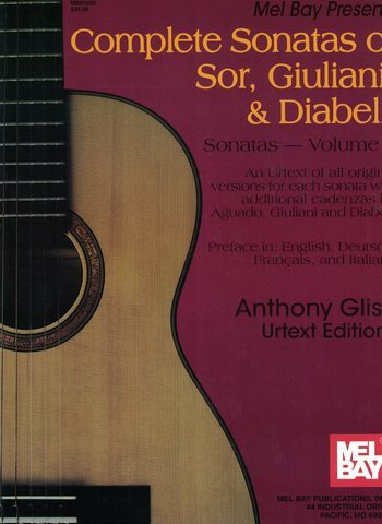 COMPLETE SONATAS OF SOR GUILIANI DIABELLI - MEL BAY