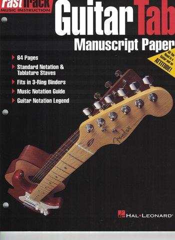 GUITAR TAB MANUSCRIPT PAPER - FASTTRACK