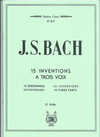 BACH DRIESTEMMIGE INVENTIES