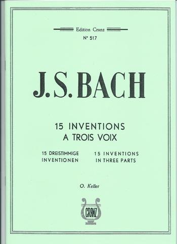 BACH INVENTIONS A TROIS VOIX