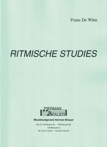 DE WITTE - RITMISCHE STUDIES