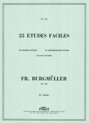 BURGMULLER - 25 ETUDES FACILES - OPUS 100